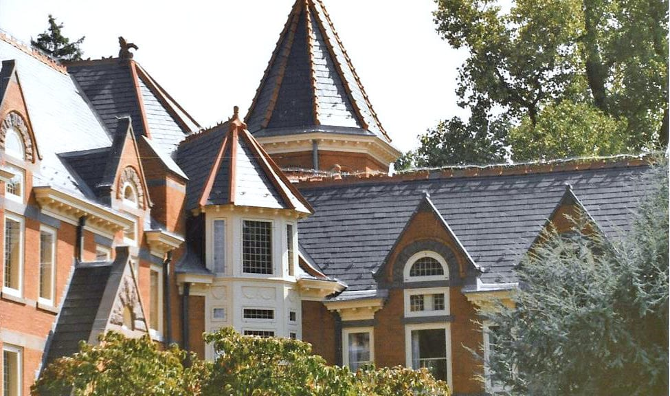 Historical pointed roof restoration