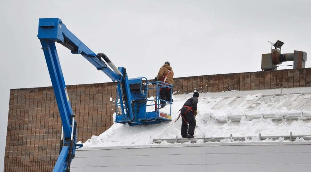 Winterizing an industrial roof