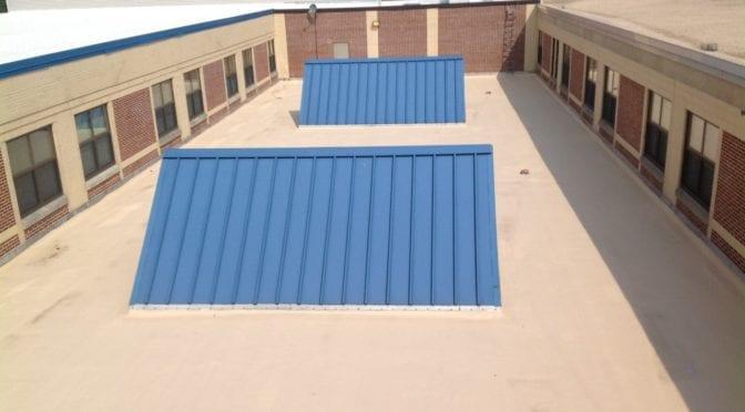 Blue color roof