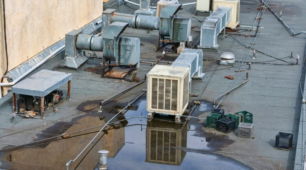 Wet Commercial Roof