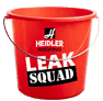 red bucket with leak squad stickers